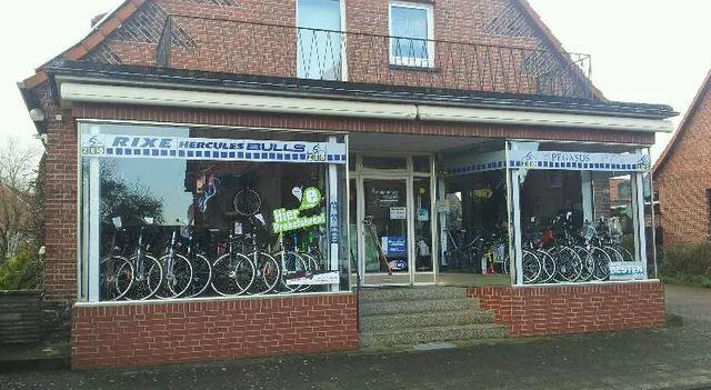 Frontansicht Ladengeschäfts Fahrradhaus Völlers
