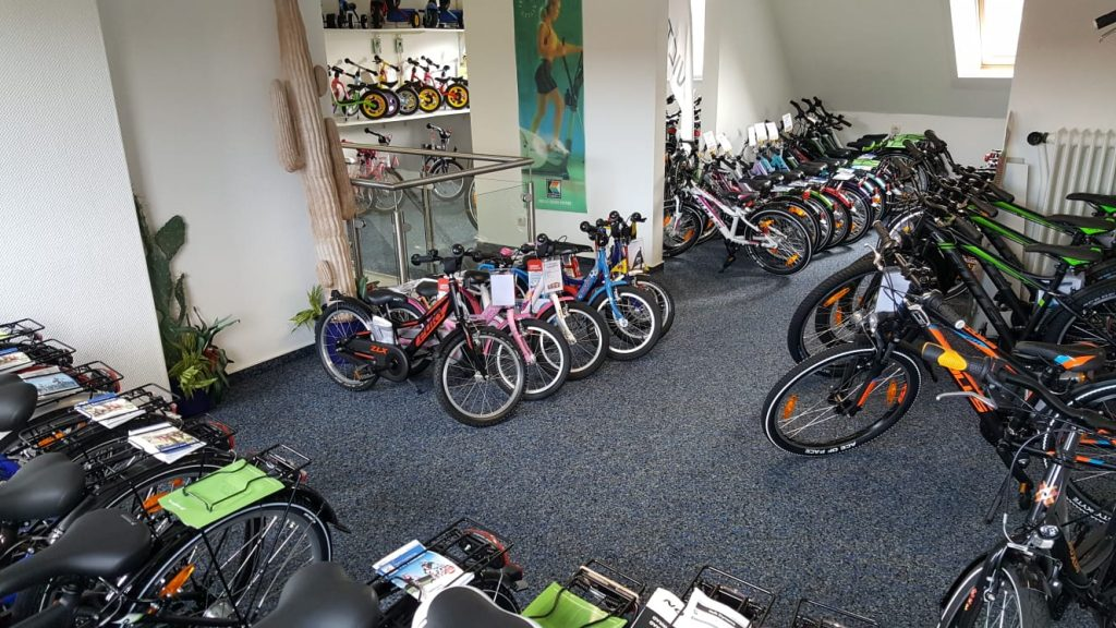 Fahrradhaus Völlers, Verkaufsraum